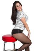Linda garota em uma cadeira — Foto Stock