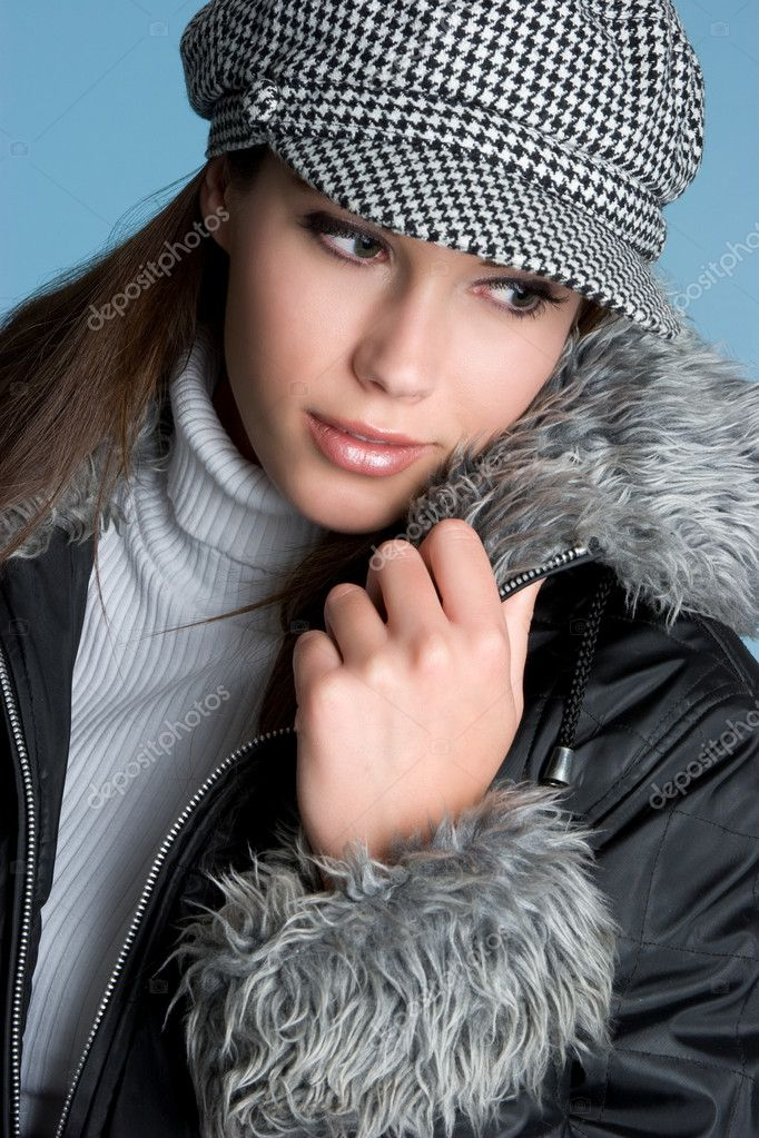 Beautiful woman in fur jacket  Stock Photo #11662313