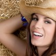 Stock Photo: Happy Smiling Cowgirl