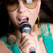 Stock Photo: Beautiful Singer