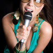 Beautiful Singer — Stock Photo #11716964