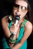 Beautiful Singer — Stock Photo