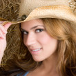 hübsches cowgirl — Stockfoto