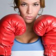Stock Photo: Female Boxer
