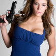 Stock Photo: Woman With Gun