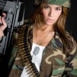 Sexy Military Woman — Stock Photo