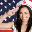 Stock Photo: Navy Girl