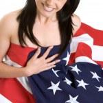 Flag Woman — Stock Photo