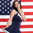 Sexy Navy Girl  — Stock Photo