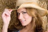 Pretty Cowgirl — Stock Photo
