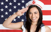 Navy Girl — Stock Photo