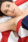 Patriotic Girl — Stock Photo