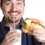 Fast Food Man — Stock Photo
