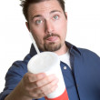 Man Drinking Soda — Stock Photo