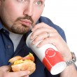 Fast Food Man — Stock Photo