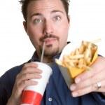 Fast Food Man — Stock Photo #11754537