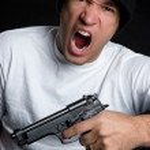 Yelling Gun Man — Stock Photo #11754662