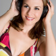 Woman Listening to Music — Stock Photo #11754949