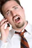 Angry Phone Man — Stock Photo