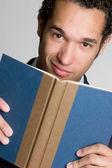 Książki człowiek — Zdjęcie stockowe