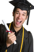 Excited Graduating Boy — Stock Photo