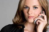 Telefono cellulare donna — Foto Stock