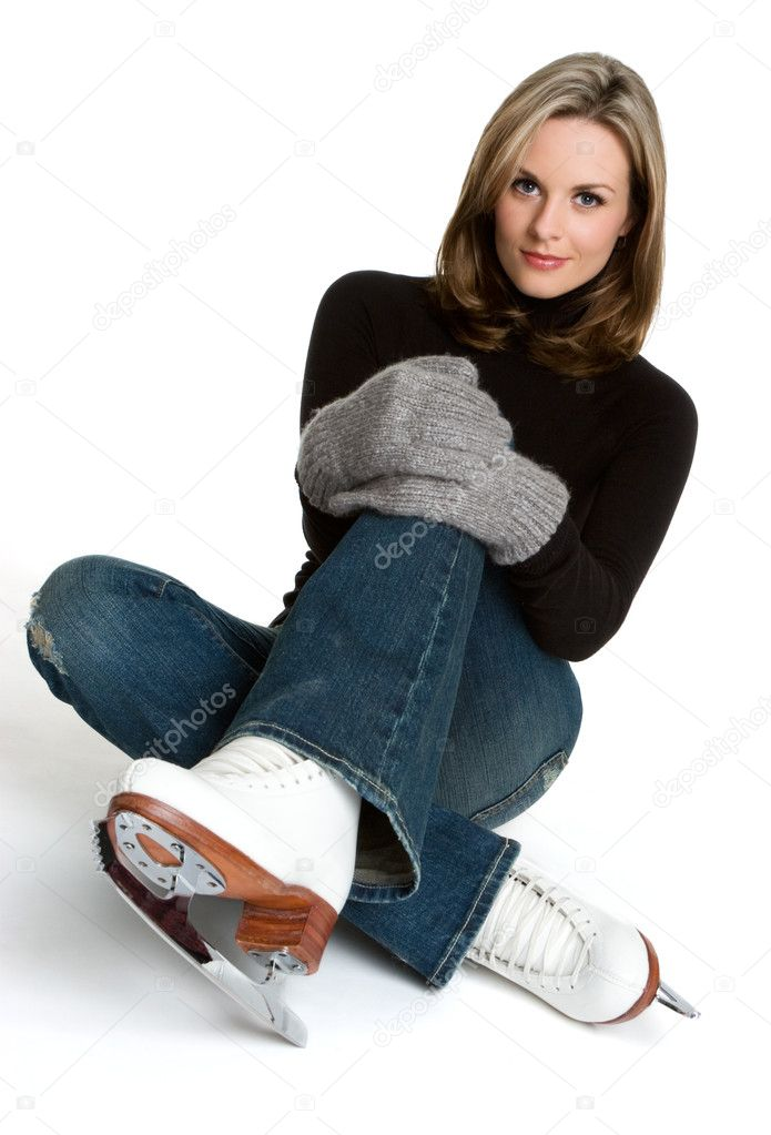 Ice Skating Woman   Stock Photo #11754882