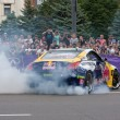 Постер, плакат: Ukrainian Drift Champion Alex Grinchuk drive the Nissan 350Z Red Bull Racing Drift Team