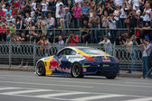 Ukrainian Drift Champion Alex Grinchuk drive the Nissan 350Z, Red Bull Racing Drift Team — Stockfoto