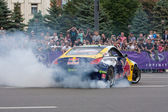 Ukrainian Drift Champion Alex Grinchuk drive the Nissan 350Z, Red Bull Racing Drift Team — Stock Photo
