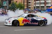 Ukrainian Drift Champion Alex Grinchuk drive the Nissan 350Z, Red Bull Racing Drift Team — 图库照片