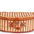 Closeup picnic basket — Stock Photo