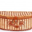 Stock Photo: Closeup picnic basket