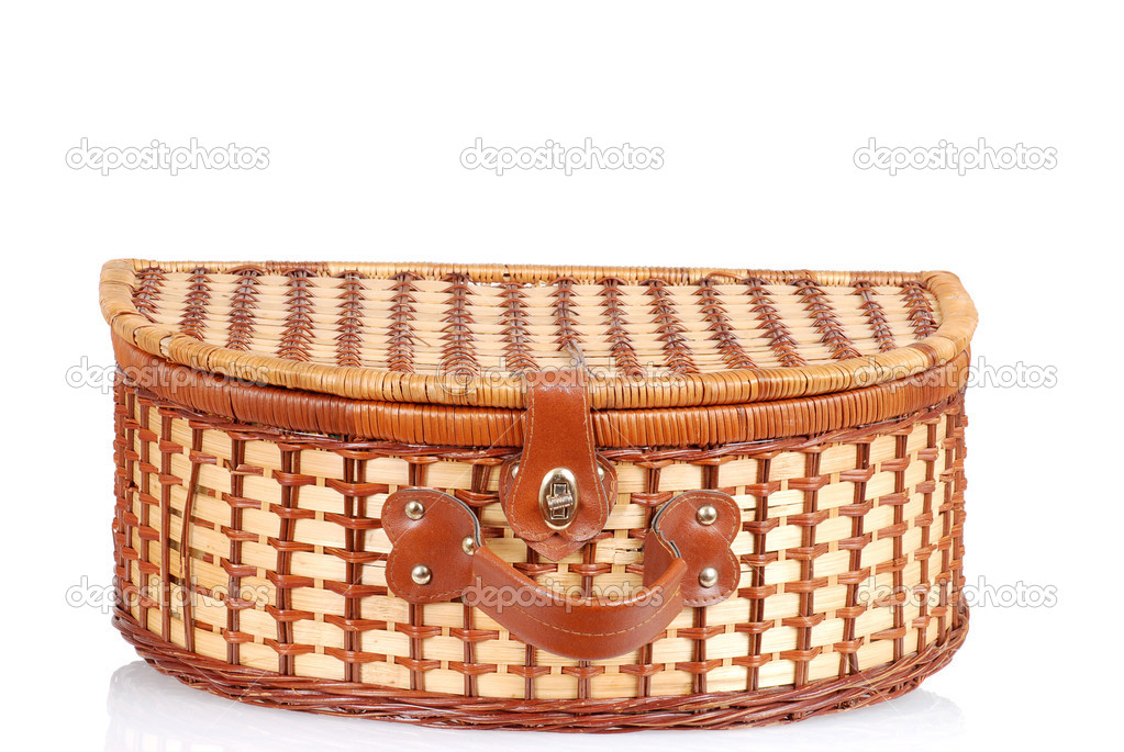 Closeup old fashioned picnic basket — Stock Photo #11028703