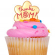 Isolated mothers day pink cupcake — Stock Photo