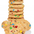 Pile of candy chocolate cookies — Stock Photo