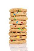 Pilha de biscoitos doces de chocolate — Fotografia Stock