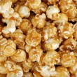 Caramel candy popcorn background - Stock Photo