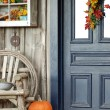Stock Photo: Fall front porch