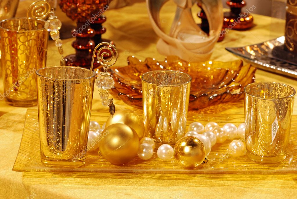 Gold Christmas Table Decorations on 1178 html