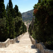 Stock Photo: Calvary steps looking down