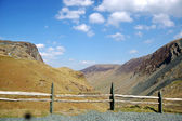 Fence at Honister Pass — Stock Photo