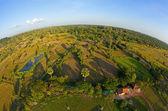 Luchtfoto van cambodjaanse platteland — Stockfoto