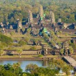 Stock Photo: Aerial view of Angkor Wat