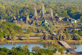 Aerial view of Angkor Wat — Stock Photo