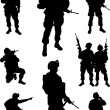 Army soldiers — Stock Vector