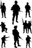 Army soldiers — Vecteur