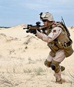 Combats dans le désert — Photo