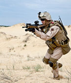 Fighting in the desert — Stock Photo