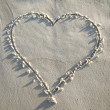 Heart Drawn in Sand — Stock Photo